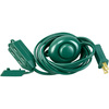 9 ft. Indoor Extension Cord with Safety Covers, On/Off Foot Tap Switch,13 Amp, 500 Max. Watt, Green