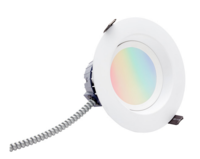 5-6 in. Retrofit Downlight LED Smart Lighting - RGB and Color Adjustable White - Compatible ZigBee Hub is Required to Control - Smooth Baffle Trim