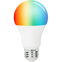 A19 LED Smart Bulb - RGB and White Color Adjustable - Easy WiFi Setup - No Hub Required - Works with Amazon Alexa and Google Assistant