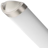 4 ft. LED Wraparound Fixture with Acrylic Lens - CRI 92 - 3100/3420/3800 Lumens - 42 Watt - Color Temperature Switchable from 3000, 4000, or 5000 Kelvin - Length 47 in. x Width 6.4 in. - Brushed Nickel Finish - 120V - Lithonia FMLCCLS