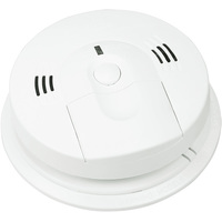 Smoke and Carbon Monoxide Alarm - Detects Flaming Fires and/or CO Hazard - Voice Message Warning - Interconnectable - 120 Volt - Battery Backup - Kidde KN-COSM-IBA