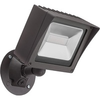 2500 Lumens - 4000 Kelvin - 28 Watt - Mini LED Flood Light Fixture - Landscape and Wall Washer - Height 8.0 in. - Width 5.6 in. - Depth 3.2 in. - 120V -  1 Year Warranty - Equal to a 100W Metal Halide and Uses 72% Less Energy - Lithonia OLMF