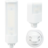 LED PL - 4 Pin G24q or GX24q Base - 14.5 Watt - 1700 Lumens - 3000 Kelvin Replaces 32W-42W CFL - Plug and Play - 120-277V - Green Creative 98244