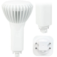 LED PL - 4 Pin G24q or GX24q Base - 17 Watt - 1900 Lumens - 3000 Kelvin Replaces 32W-42W CFL - Plug and Play - 120-277V - Green Creative 98248