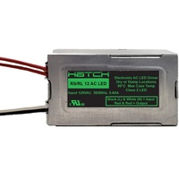 LED Driver - Dimmable - 12 Volt - 0-60 Watts - Input 120V - For A/C LED Products Only - Hatch RL12-60M-LED