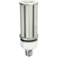 6075 Lumens - 45 Watt - LED Corn Bulb with 4kV Surge Protection - 175W Metal Halide Equal - 5000 Kelvin - Mogul Base - 120-277V - 5 Year Warranty