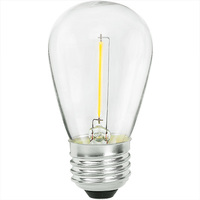 LED S14 Bulb - 1 Watt - 5 Watt Equal - 70 Lumens - 2400 Kelvin - Color Matched For Incandescent Replacement - 120 Volt - 90+ Lighting SE-350.176