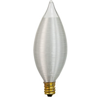 40 Watt - C11 - Spun Thread Satin White - Candelabra Base - 4,000 Life Hours - 316 Lumens - 120 Volt