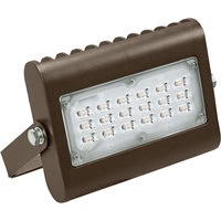3400 Lumens - 3000 Kelvin - 30 Watt - Mini LED Flood Light Fixture - Landscape and Wall Washer - Height 6.6 in. - Width 6.75 in. - Depth 1.6 in. - 120-277V -  5 Year Warranty - Equal to a 100W Metal Halide and Uses 70% Less Energy