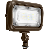 3000 Lumens - 4000 Kelvin - 30 Watt - Mini LED Flood Light Fixture - Landscape and Wall Washer - Height 4.4 in. - Width 7.0 in. - Depth 1.61 in. - 120-277V - 5 Year Warranty - 25% Brighter Than a 70W Metal Halide and Uses 57% Less Energy