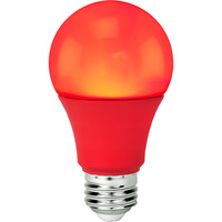 LED A19 Party Bulb - 9 Watt - Red - 60 Watt Equal - 120V - PLT-11376