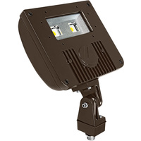 2965 Lumens - 5000 Kelvin - 21 Watt - Mini LED Flood Light Fixture - Landscape and Wall Washer - Height 7.75 in. - Width 8.75 in. - Depth 2.94 in. - 120-277V - 5 Year Warranty - 18% Brighter Than a 70W Metal Halide and Uses 70% Less Energy - Lithonia DSXF1