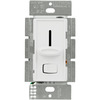 600 Watt Max. - Incandescent Dimmer - Single Pole - On/Off Rocker Switch and Slider - White - 120 Volt - Lutron Skylark S-600P-WH
