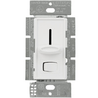 White - 450 Watt Max. - Skylark Magnetic Low Voltage Dimmer - Single Pole - Rocker and Slide Switch - 120 Volt - Lutron SLV-600P-WH
