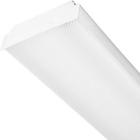 2 Lamp - F17T8 - Fluorescent Wraparound Fixture - Length 24 in. x Width 7.6 in. - 120V - Lamps sold Separately
