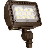 2300 Lumens - 5000 Kelvin - 20 Watt - Mini LED Flood Light Fixture - Landscape and Wall Washer - Height 3.62 in. - Width 5.1 in. - Depth 2.1 in. - 120-277V - 3 Year Warranty