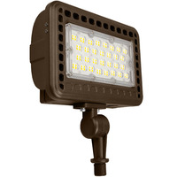 4800 Lumens - 5000 Kelvin - 40 Watt - 250 Watt Metal Halide Equal - Mini LED Flood Light Fixture - Landscape and Wall Washer - 120-277V - 3 Year Warranty