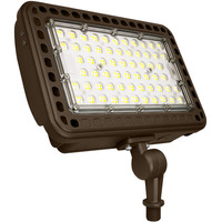 8600 Lumens- 5000 Kelvin - 65 Watt  - LED Flood Light Fixture - Height 7.71 in. - Width 11.81 in. - Depth 3.34 in. - 120-277V - Equal to a 175W Metal Halide and Uses 60% Less Energy