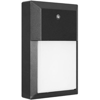 LED Wall Pack - 12 Watt - 1000 Lumens - 5000 Kelvin - Replaces 50 Watt Metal Halide - Integrated Photocell - 120 Volt - Euri Lighting EOL-WL04BLK-1250E