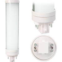 LED PL - 4 Pin G24q Base - 8 Watt - 725 Lumen - 5000 Kelvin Replaces 18W CFL - Ballast Bypass - 120-277 Volt - MaxLite 76492