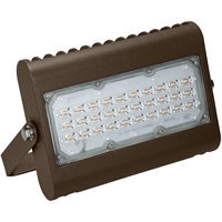 6000 Lumens - 5000 Kelvin - 50 Watt - Mini LED Flood Light Fixture - Landscape and Wall Washer - Height 7.8 in. - Width 8.5 in. - 120-277V - Equal to a 175W Metal Halide and Uses 71% Less Energy