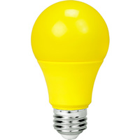 LED A19 Party Bulb - 9 Watt - Yellow - 60W Equal - 120V - PLT-11485