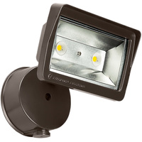 1900 Lumens - 4000 Kelvin - 25 Watt - Mini LED Flood Light Fixture with Photocell - Landscape and Wall Washer - Height 7.4 in. - Width 6.4 in. - Depth 4.4 in. - 120V - 5 Year Warranty - Equal to a 70W Metal Halide and Uses 64% Less Energy - Lithonia OLFL