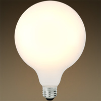 800 Lumens - 8.5W - 60W Equal - LED G40 Globe - 4.9 in. Diameter - 2700 Kelvin - Frosted - Medium Base - 120V - Bulbrite 776883