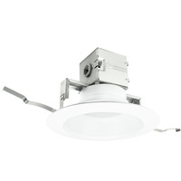 850 Lumens - 6 in. Canless Retrofit LED Downlight - 10.9W - 65W Equal - 3000 Kelvin - Stepped Baffle Trim - Dimmable - 120V - Lithonia 6JBK