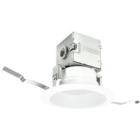 695 Lumens - 4 in. Canless Retrofit LED Downlight - 8.9W - 65W Equal - 3000 Kelvin - Stepped Baffle Trim - Dimmable - 120V - Lithonia 4JBK