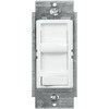 150W or 600W Max. Incandescent or CFL/LED Dimmer - Single Pole/3-Way - Slide & On/Off Rocker Switch - White - 120V, Leviton SureSlide 6674