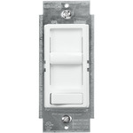 White - 150W or 600W Max. - Incandescent or CFL/LED Dimmer - Single Pole/3-Way - Slide and On/Off Rocker Switch - 120 Volt - Leviton SureSlide 6674