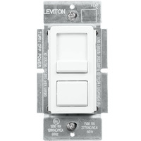 White/Ivory/Light Almond - 0-10 Volt LED/Fluorescent Dimmer - Single Pole/3-Way - Features Color Change Kit - Slide/Push Button - 120/277V - Leviton IllumaTech IP710-LFZ