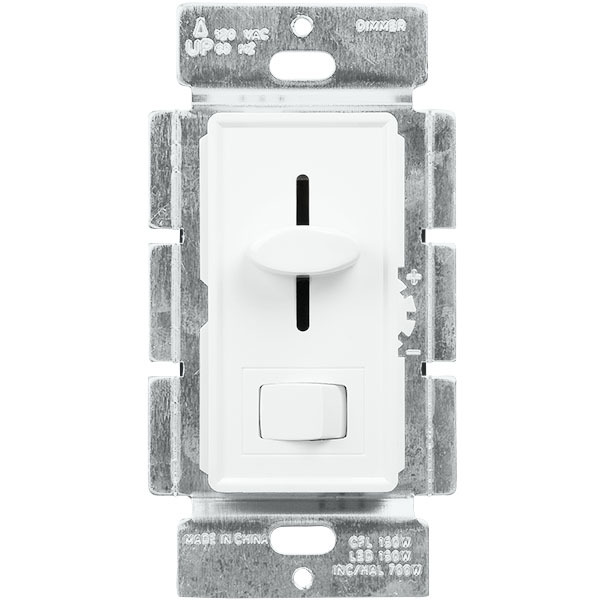 120V White Single-Pole//3-Way LED//CFL Dimmer Light Switch 3-Pack Dimmer Switch