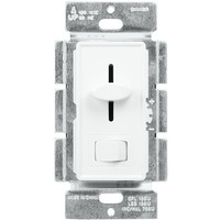 White - CFL / LED Dimmer - 3-Way/ Single Pole - Rocker and Slide Switch - 150 Watt Max