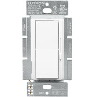 ELV, CFL/LED, Incand./Halogen Dimmer - Single Pole/3-Way - White - 500 Watt Maximum - Paddle and Slide Switch - Lutron DVRP-253P-WH