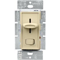 Ivory - 1000 Watt Max. - Incandescent Dimmer - Single Pole - Rocker and Slide Switch - 120 Volt - Lutron Skylark S-10P-IV