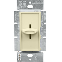 Almond - 1000 Watt Max. - Incandescent Dimmer - Single Pole - Slide Switch - 120 Volt - Lutron Skylark S-1000-AL