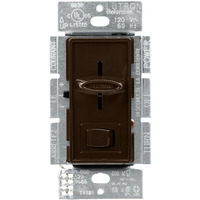 Brown - 600 Watt Max. - CFL/LED or Incandescent/Halogen Dimmer - Single Pole/3-Way - Rocker and Slide Switch - 120 Volt - Lutron Skylark SCL-153P-BR