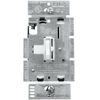 White - 600 Watt Max. - Ariadni Incandescent Dimmer - Single Pole - Toggle and Slide Switch - 120 Volt - Lutron AY-600P-WH