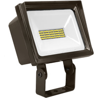 4000 Lumens - LED Flood Light Fixture - 5000 Kelvin - 40 Watt - Replaces a 175 Watt Metal Halide - 120 Volt - Yoke Mount - Lithonia QTE