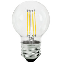 2.05 in. Dia. - LED G16.5 Globe - 4 Watt - 40 Watt Equal - Incandescent Match - 350 Lumens - 2700 Kelvin - Medium Base - 120 Volt - Green Creative 98452