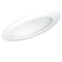 6 in. White Slope Ceiling Reflector with White Trim - Nora NTS-615W