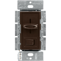 3 Speed Quiet Fan Control and Incandescent Light Switch - Single Pole - Slide-to-Off Switch with On/Off Rocker - Brown