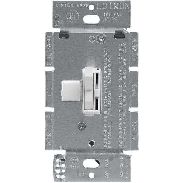 Lutron AY-103P-WH - White 3-Way 1000W Dimmer | 1000Bulbs com