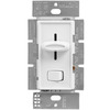 1000 Watt Max. - Incandescent Dimmer - Single Pole - Rocker and Slide Switch - White - 120 Volt - Lutron Skylark S-10P-WH