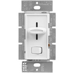White - 1000 Watt Max. - Incandescent Dimmer - Single Pole - Rocker and Slide Switch - 120 Volt - Lutron Skylark S-10P-WH