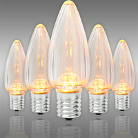 LED C9 - Warm White Deluxe - 0.6 Watt - Intermediate Base - Smooth Finish - 50,000 Life Hours - LED Retrofit Bulb - 130 Volt - Pack of 25