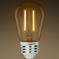 S14 - LED - Vertical Filament - 3 Watt - 250 Lumens - 25 Watt Equal - 2700K Soft White - Bulbrite 776851