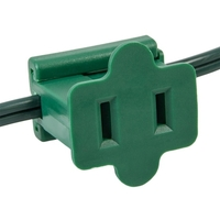 Green - Female Gilbert Inline Replacement Plug for Commercial Christmas Lights - SPT-2 Rated